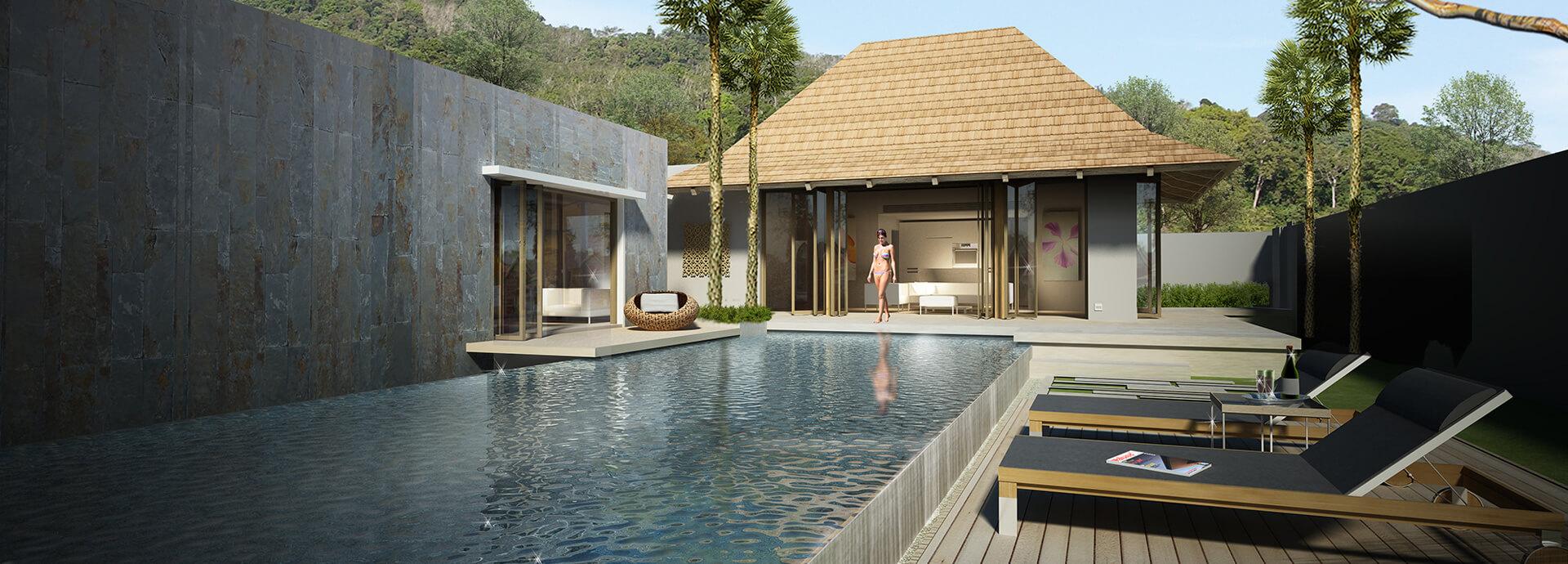 See Stunning 3 bedroom pool villas 1606 details