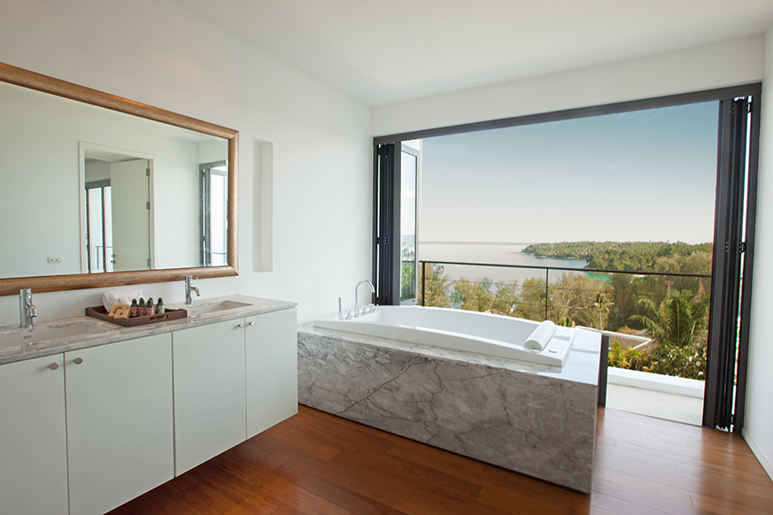 3 Bed Sea View Townhome - 1641-Surin Saan Master Bathroom With View(1).jpg